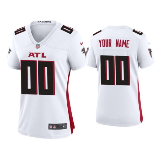 Atlanta Falcons Custom White Jersey Game - Women's