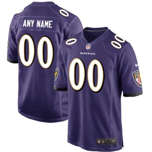 Men's Baltimore Ravens Nike Purple Customized Game Jersey