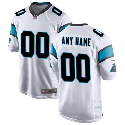 Men's Carolina Panthers white Custom Game Jersey