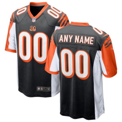Men's Cincinnati Bengals black 2018 Alternate Custom Game Jersey