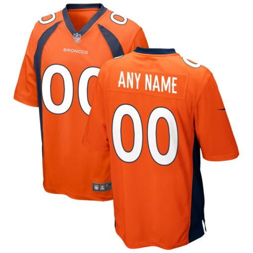 Men's Denver Broncos Orange Custom Game Jersey