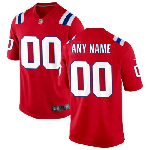 Men's New England Patriots Navy Custom Game Jersey