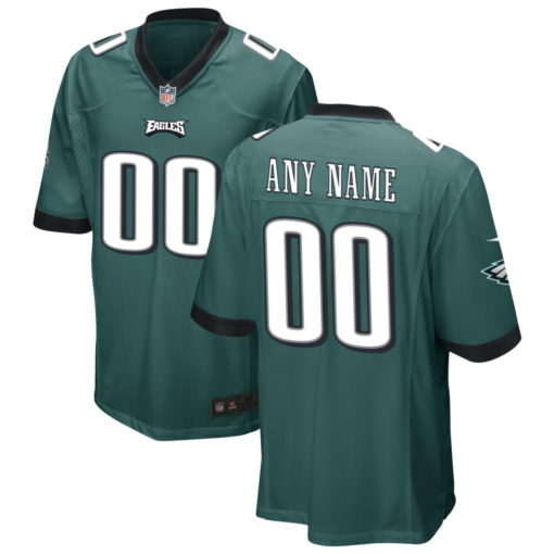 Men's Philadelphia Eagles Midnight Green Custom Game Jersey