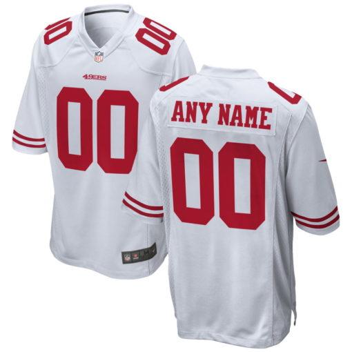 Men's San Francisco 49ers White Custom Game Jersey