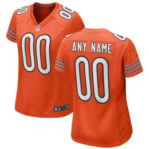 Women's Chicago Bears Orange Blue Custom Game Jersey
