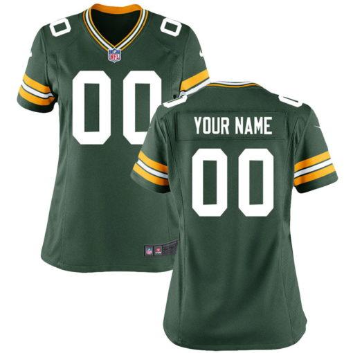 Women's Green Bay Packers Green Custom Throwback Jersey