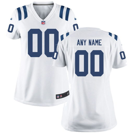 Women's Indianapolis Colts White Customized Throwback Game Jersey
