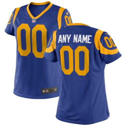 Women's Los Angeles Rams Custom Royal Game Jersey