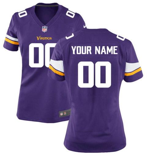 Women's Minnesota Vikings Purple Custom Game Jersey