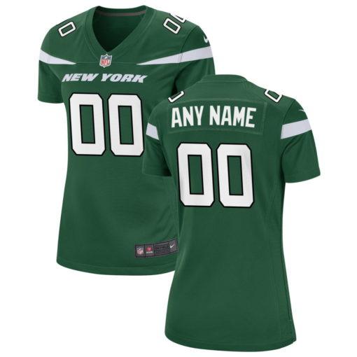 Women's New York Jets Custom Green Game Jersey