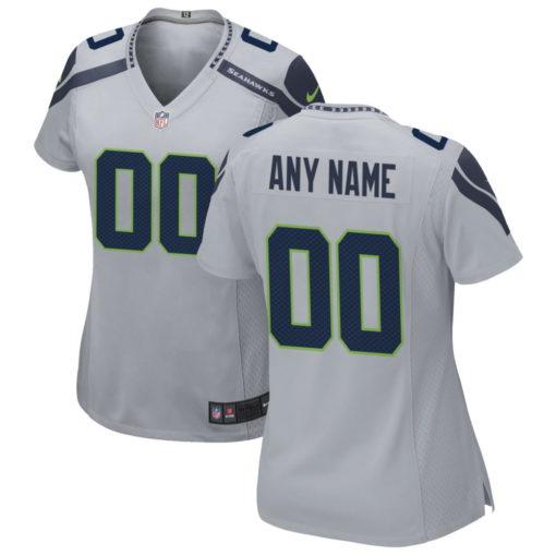 Women's Seattle Seahawks Gray Alternate Custom Game Jersey