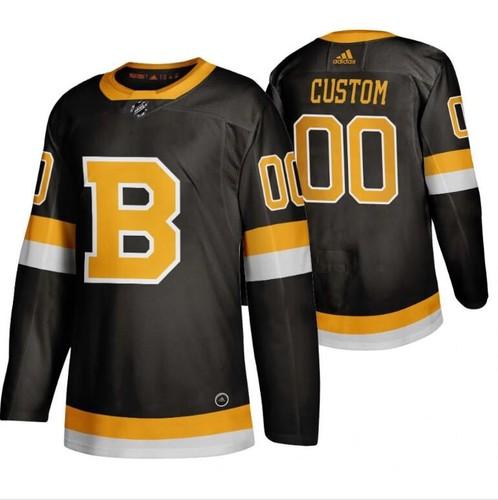 Boston Bruins Custom Black 2019-20 Third Stitched NHL Jersey