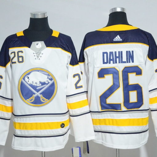Dahlin 26 Men's Buffalo Sabres White Away Breakaway Custom Jersey