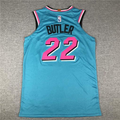 Jimmy Butler Miami Heat 2020-21 VICEWAVE blue Swingman Jersey 1