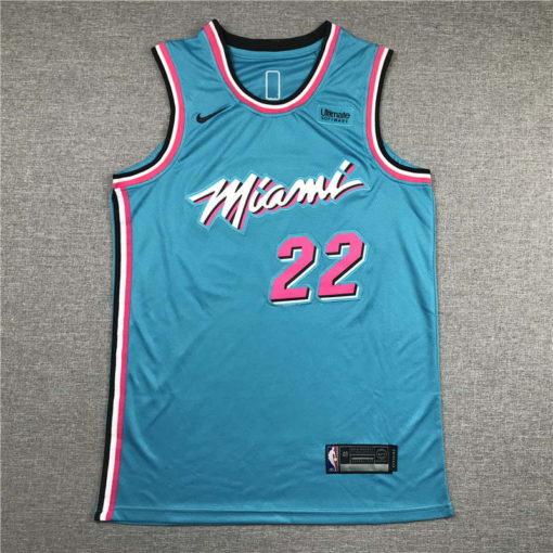 Jimmy Butler Miami Heat 2020-21 VICEWAVE blue Swingman Jersey