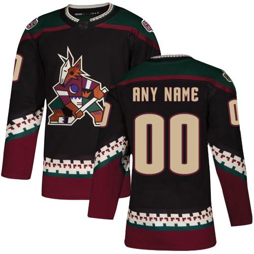 Men's Arizona Coyotes Black Alternate Breakaway Custom Jersey
