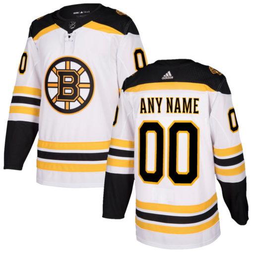 Men's Boston Bruins adidas white Custom Jersey