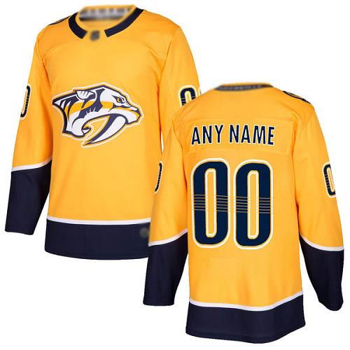 Men's Nashville Predators yellow home Breakaway Custom Jersey