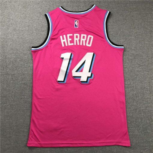 Tyler Herro Miami Heat 202021 Swingman Jersey - pink 1