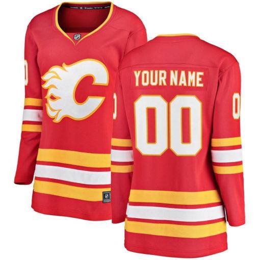 woMen's Calgary Flames Red Alternate Custom Jersey