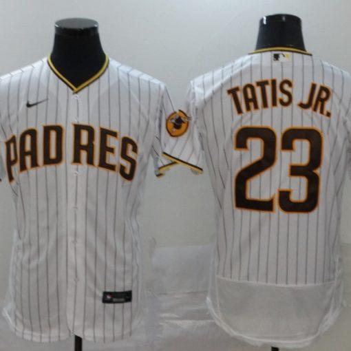 Fernando Tatis Jr San Diego Padres WhiteBrown Home 2020 Replica Player Jersey