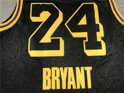 Kobe Bryant #24 Los Angeles Lakers City Edition Black Jersey With Love Path 1