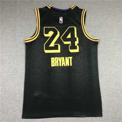 Kobe Bryant #24 Los Angeles Lakers City Edition Black Jersey With Love Path.jpeg