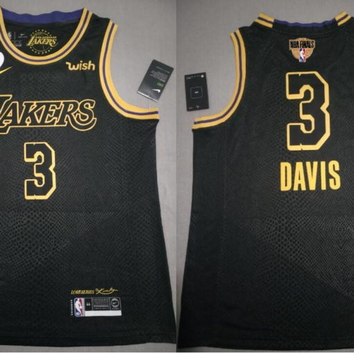 LeBron James #23 Lakers city edition Black jersey with Love path NBA FINAL 1