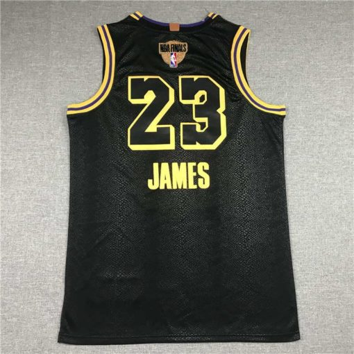LeBron James #23 Lakers city edition Black jersey with Love path NBA FINAL