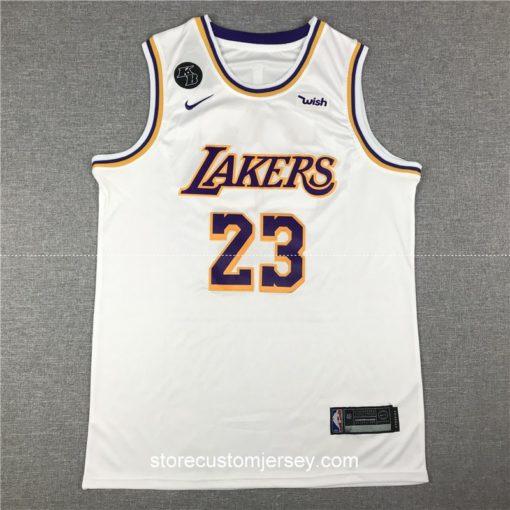 Los Angeles Lakers LeBron James 2019-20 Association Edition Swingman Jersey 1
