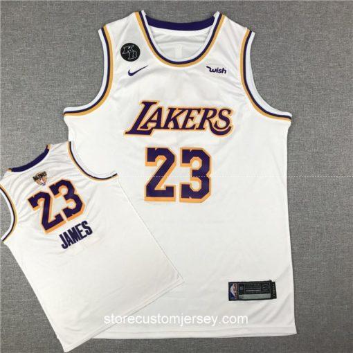 Los Angeles Lakers LeBron James 2019-20 Association Edition Swingman Jersey