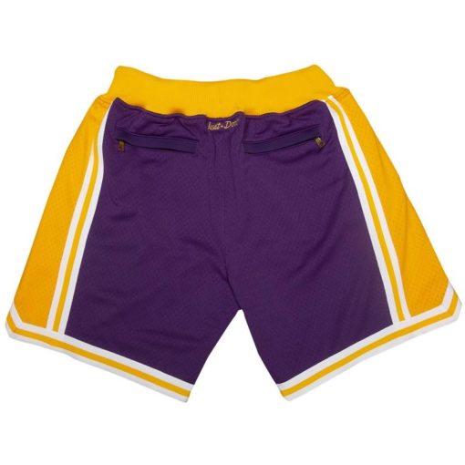 Los Angeles Lakers Shorts (Purple) 1