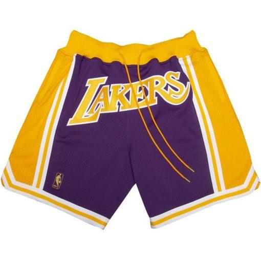 Los Angeles Lakers Shorts (Purple)