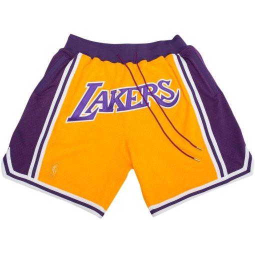Los Angeles Lakers Shorts (Yellow)