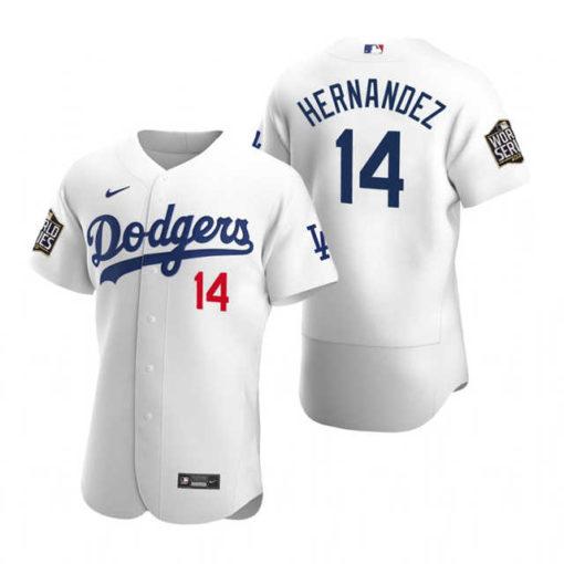 dodgers-enrique-hernandez-white-2020-world-series-authentic-jersey