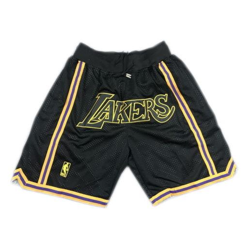 lakers black shorts