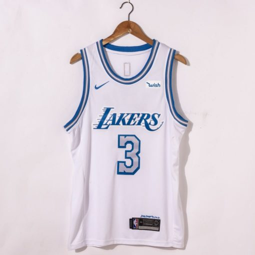Anthony Davis Los Angeles Lakers City Edition 2021 White Jersey