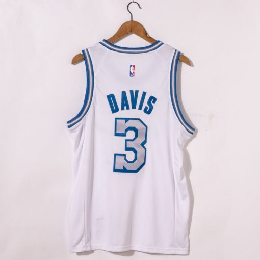 Anthony Davis Los Angeles Lakers City Edition 2021 White Jersey back