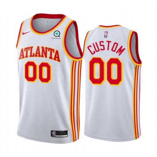 Atlanta Hawks custom 2021 Association Edition Swingman White Jersey
