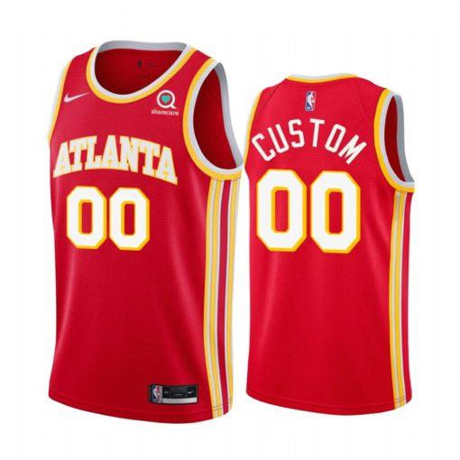 Atlanta Hawks custom 2021 Icon Edition Swingman Red Jersey