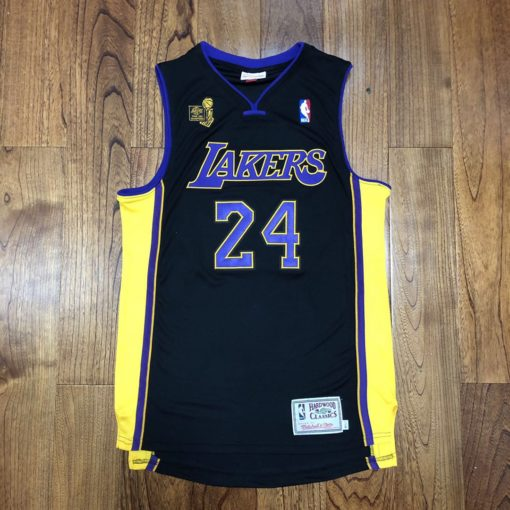 Bryant Lakers champion Authentic jersey black 1