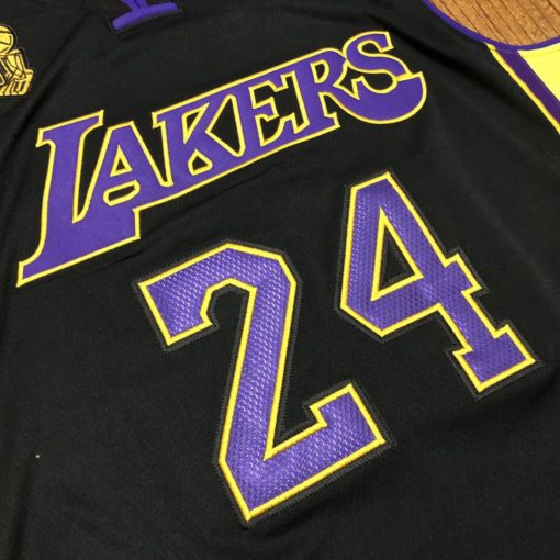 Bryant Lakers champion Authentic jersey black 3