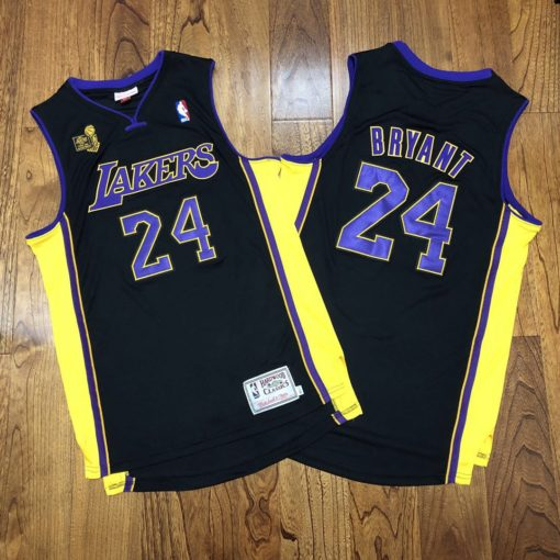 Bryant Lakers champion Authentic jersey black