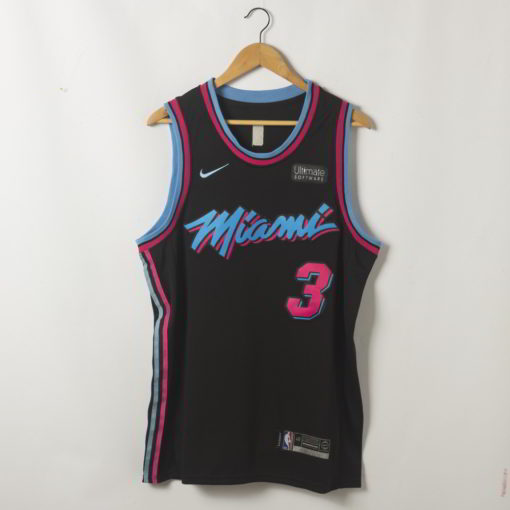Dwyane Wade Miami Heat 2020-21 Vice Night Black Swingman Jersey
