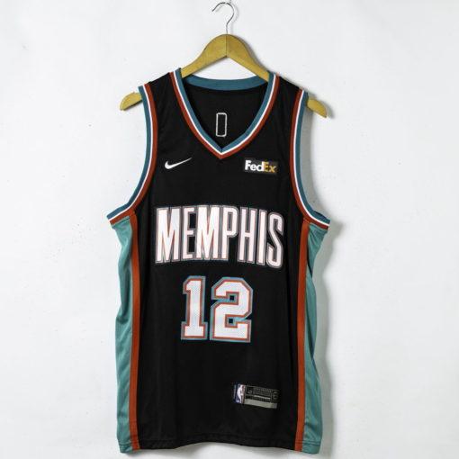 Ja Morant #12 Memphis Grizzlies 20th Season Classic Black 2021 Jersey