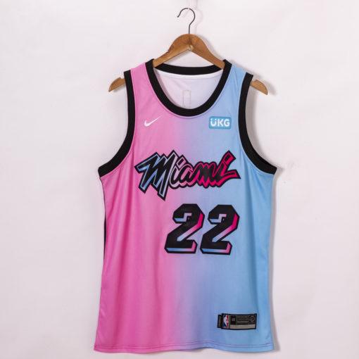 Jimmy Butler Miami Heat 2020-21 Blue Pink Rainbow City Jersey