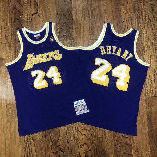Kobe Bryant Los Angeles Lakers 2007-08 Mitchell & Ness Jersey - Purple