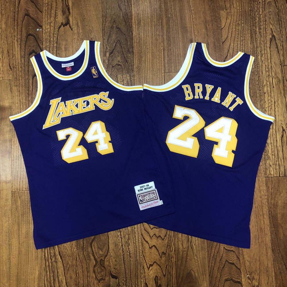 Kobe Bryant #24 Los Angeles Lakers 2007-08 M&Ness Purple Jersey ...