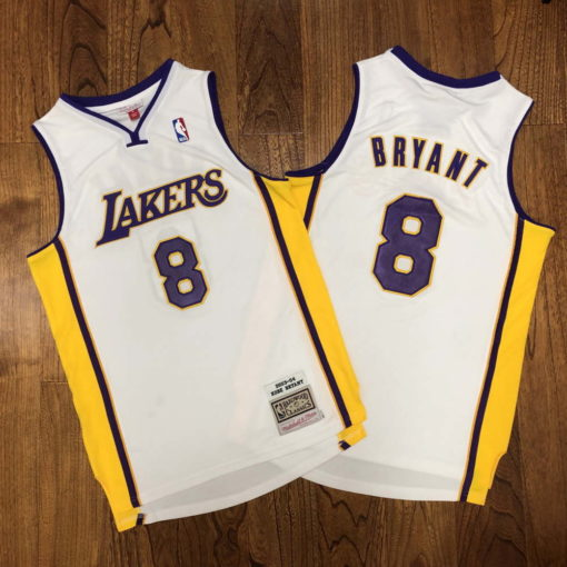 Kobe Bryant Los Angeles Lakers Alternate 2003-04 white jersey