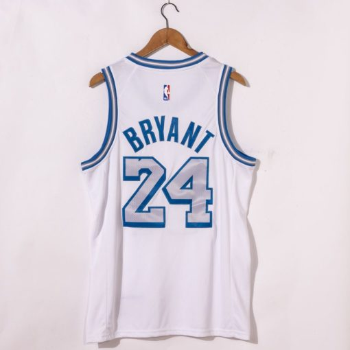 Kobe Bryant Los Angeles Lakers City Edition 2021 White Jersey back